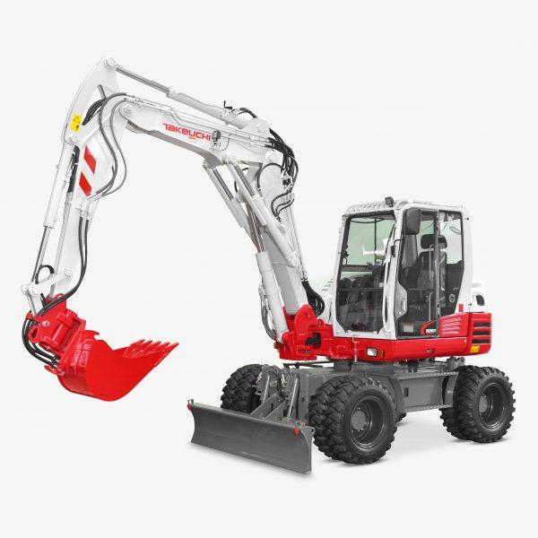 Huppenkothen Baumaschinen Bagger Mobilbagger Takeuchi TB295W Tieflöffel Martin