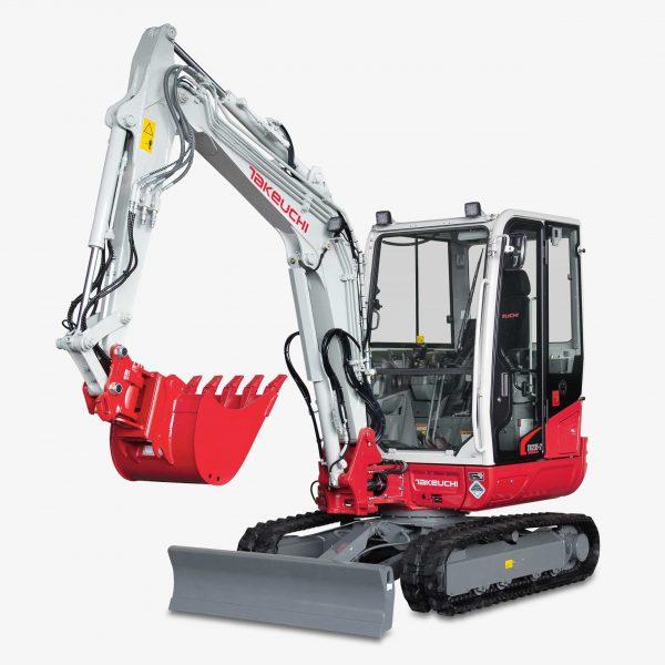 Huppenkothen Baumaschinen Bagger Minibagger Takeuchi TB235-2 Universalgreifer Huppgrip