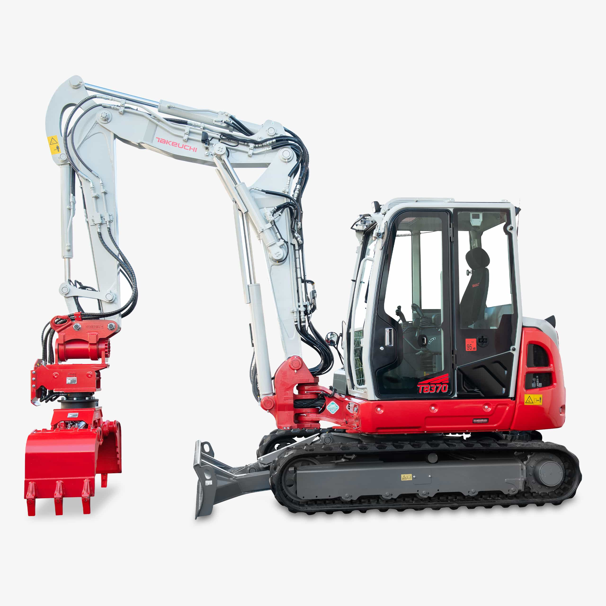 Huppenkothen Baumaschinen Bagger Midibagger Takeuchi TB370 Universalgfreifer Huppgrip