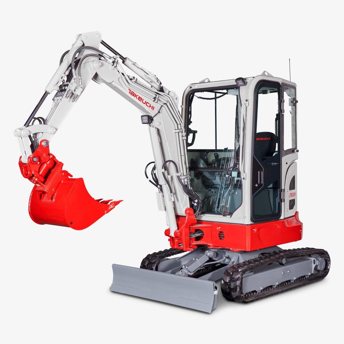 Huppenkothen Baumaschinen Bagger Minibagger Takeuchi TB325R Kurzheckbagger mit Kabine